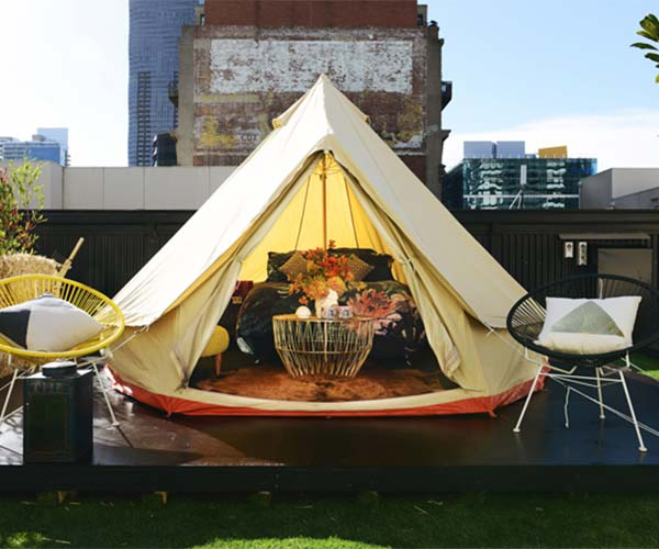 Glamping at St Jerome's Hotel