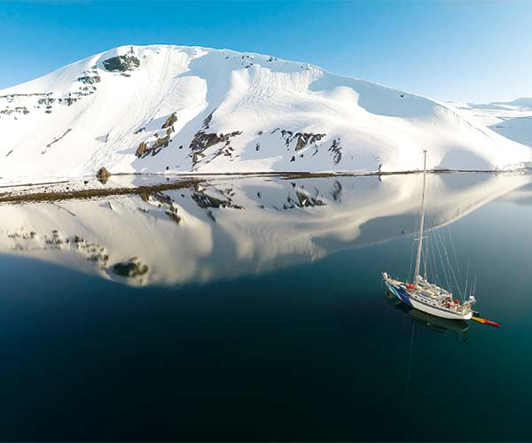 Skiing and sailing in Iceland